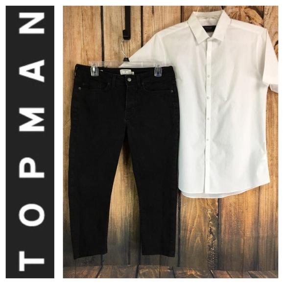 25224779a7 Topman Jeans | Mens Black Crop Stretch Skinny Pant | Poshmark